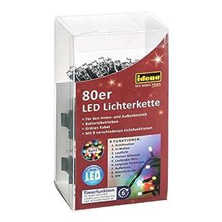 Idena-30117-LED-Lichterkette-mit-80-LED-in-bunt-und-8-Lichtfunktionen-mit-6-Stunden-Timer-Funktion-Batterie-betrieben-fr-Partys-Weihnachten-Deko-Hochzeit-als-Stimmungslicht-ca-65-m