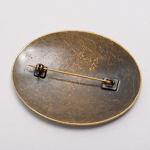GRACEART Mittelalterlich Wikinger Brosche (1 x Paar)