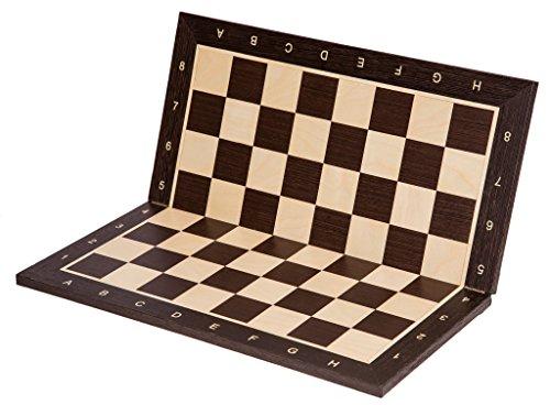 SQUARE-Pro-Schachbrett-Nr-6-Wenge-SK-Faltbar-Feld-58-mm-Schachspiel-aus-Holz