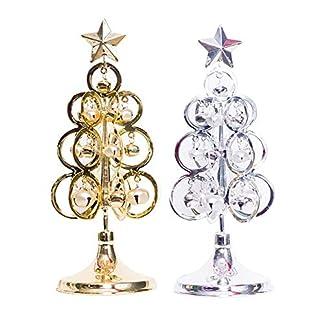 Bloomma-Metall-Weihnachtsbaum-Bell-Dekorationen-fr-Weihnachtstisch-Display-Dekor10cm-x-28cm