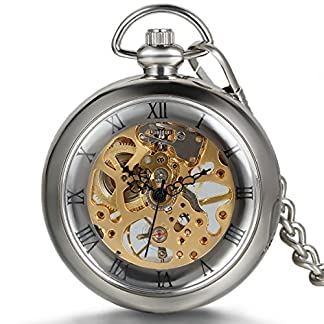 JewelryWe-Anhnger-Halskette-Taschenuhr-Taschenuhr-Skelett-Mechanische-Handbuch-transparent-rmischen-Ziffern-Legierung-fr-Herren-Damen-mit-Geschenktasche