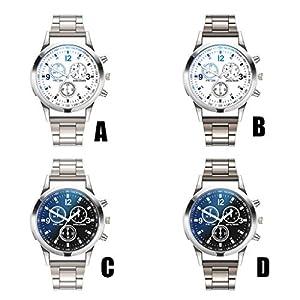 SO-buts-Mnner-SmartwatchLssige-Analog-Uhren-Armband-Mit-EdelstahlzifferblattMode-Herren-WatchLuxus-Quarz-DiamantuhrZA01-G