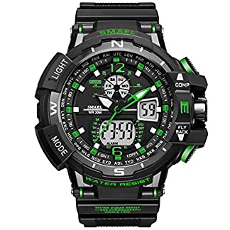 Analog-Digital-Armbanduhr-Military-Sport-Herren-Dual-Zifferblatt-Multifunktions