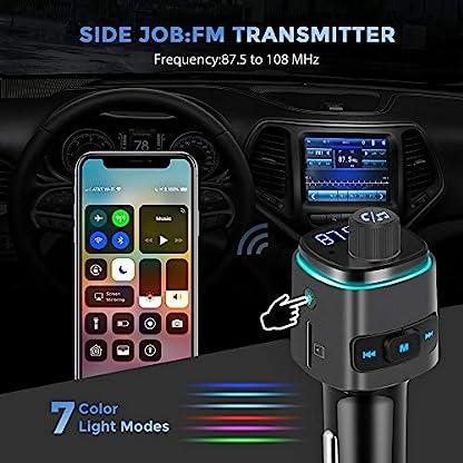 FM-Transmitter-Auto-Bluetooth-Kfz-Radio-Adapter-mit-Dual-USB-Ladegert-fr-Handy
