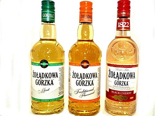 Dreierpack-3x05L-Polnischer-Wodka-Vodka-1-Zoladkowa-Gorzka-1-Minze-1-Black-Cherry-3-Flaschen-Gesamt