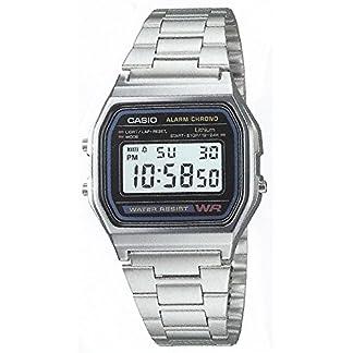 Casio-Armbanduhr-Quarz-Edelstahl-A158
