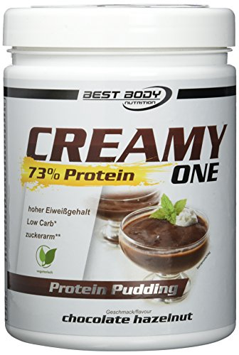 Best Body Nutrition Creamy One Protein Pudding chocolate-hazelnut, 1er Pack (1 x 300 g)