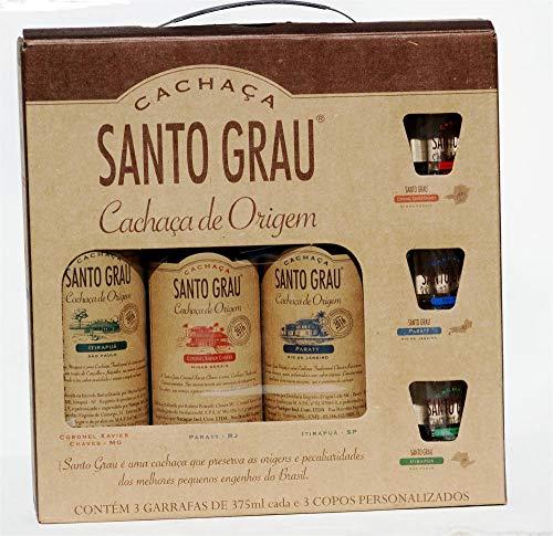 Cachaca-Santo-Grau-Packung-mit-3-X-0375-Liter-Flaschen-plus-3-Glser