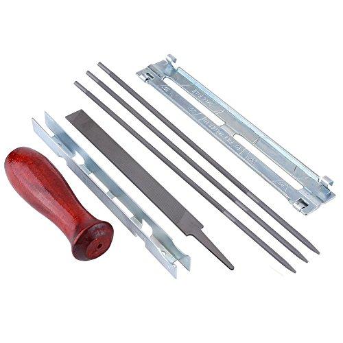 8Stk-Pro-Feilen-Set-Schrf-Set-Schrf-Kit-Feilenkit-zum-Schrfen-von-Sgeketten-Feilenlehre-3X316Inch-Rundfeile-Tiefe-Tasche-fr-Schrfen-Kettensgen-Klingen