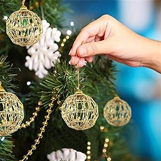 Balock-Weihnachtskugeln-Gold-6-Stck-Weihnachtsbaum-Schmuck-Partei-Verziert-Weihnachtsbaum-Hngende-Verzierung-fr-Outdoor-Indoor-Festliche-Home-Decor-Gre-6cm