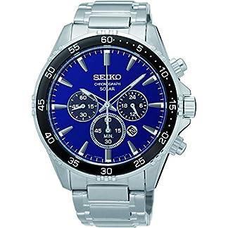 Seiko-Herren-Chronograph-Solar-Uhr-mit-massives-Edelstahl-Armband-SSC445P1