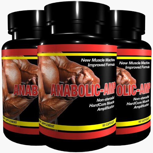 ANABOLIC AMP | 3x 90 Kapseln | Non-Steroidal Hard Core Muscle Amplification |The Original | for MaXimum Results | Muskelaufbau Muskelschutz Muskelstraffung für Männer & Frauen | Premium GMP & ISO 9001 Qualität