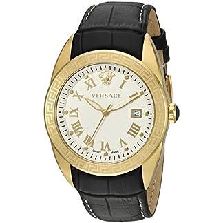 Versace-Herren-Analog-Quarz-Uhr-mit-Leder-Armband-VFE130015