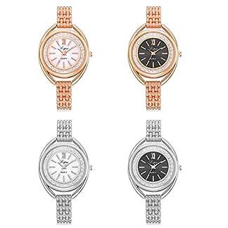 Domybest-Beilufige-koreanische-Damen-Rhinestone-Quarz-Armbanduhr-Dame-Analog-Bracelet-Watch