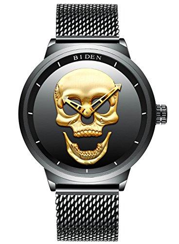 Herren-Schwarz-Armbanduhren-Mnner-Wasserdicht-Mesh-Armband-Groe-Gesicht-Uhr-Edelstahl-Mode-Luxus-Stilvolle-Beilufige-Analoge-Quarz-Designer-Armbanduhr-fr-Mnner