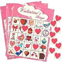 TUPARKA-Valentinstag-Spiel-Valentinstag-Bingo-Spiel-fr-Kinder-24-Spieler