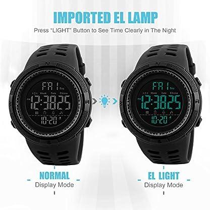 Herren-Digital-Sport-Uhren-Outdoor-wasserdichte-Armbanduhr-mit-Wecker-Chronograph-und-Countdown-Uhr-LED-Licht-Gummi-Schwarz-groe-Anzeige-Digitaluhren-fr-Herren