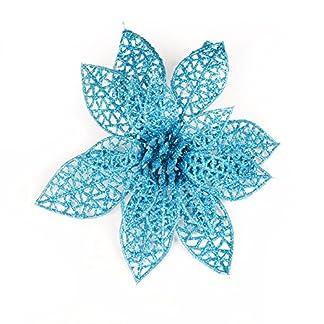 Knstliche-Blumen-glitzernde-Pailletten-Weihnachtsblumen-Weihnachtsbaum-Hochzeit-Party-Dekoration-10-Stck