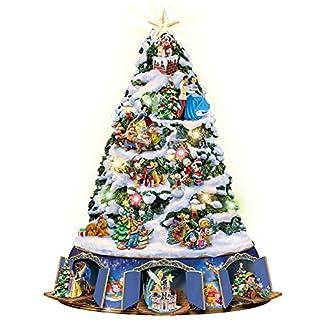 The-Bradford-Exchange-Die-Magie-von-Disney-Beleuchteter-Weihnachtsbaum-mit-ber-25-Disney-Figuren-und-Bewegung