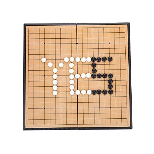 Alomejor-Go-Schach-Brettspiel-Set-mit-magnetischen-Kunststoffsteinen-und-Zusammenklappbaren-Schachbrett-Weiqi-Lernspiele-fr-Kinder