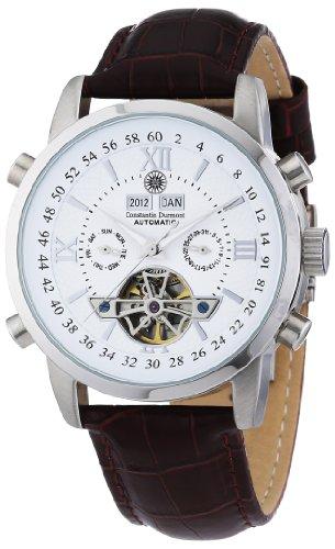 Constantin-Durmont-Herren-Armbanduhr-Calendar-Analog-Automatik-CD-CALE-AT-LT-STST-WH