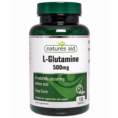 Natures Aid L-Glutamine 500mg 120Kappen