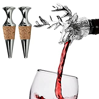 Hirschkopf-Flaschenausgieer-Weinausgieer-Ausgieer-Anti-Tropf-Bar-Wein-Stopper
