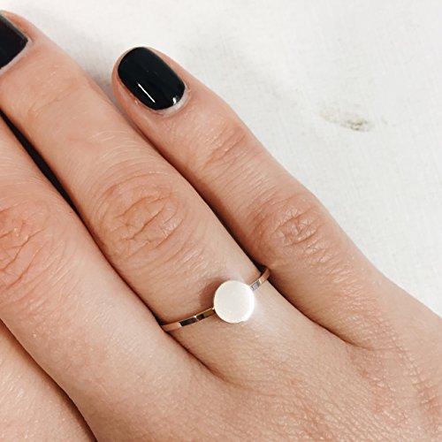 Happiness Boutique Damen Kreis Ring in Rosegold | Geometrischer Ring Rund Design Edelstahlschmuck