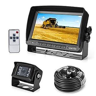 Rckfahrkamera-18-IR-LED-Wasserdicht-Rckfahrsystem-Kamera-7-TFT-LCD-KFZ-Monitor-Zwei-Halterungen