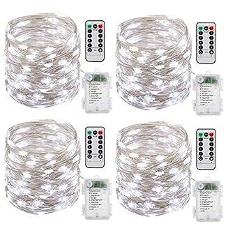 Batterie-Lichterketten-4-Stck-10M-100-LEDs-Batteriebetrieben-Lichterkette-Auen-und-Innen-DIY-Dekoration-Kupferdraht-8-Modi-fr-Weihnachten-Garten-Hochzeit