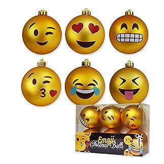 mikamax-Weihnachtskugeln-Emoji-Christmas-Balls-Satz-von-6-Kugeln-Xmas-Ornaments-8-cm