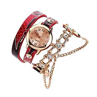 Chenang-Rosegold-Armband-ArmbanduhrenMode-Quarzuhr-Einfach-Handgelenk-Armbanduhr-Frauen-Lederarmband-Retro-Damen-Analog-Quarz-Armbanduhr
