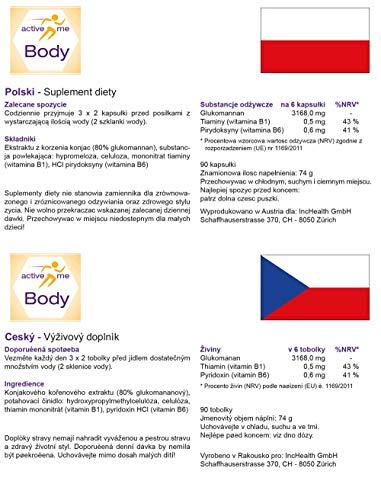 activeMe Body | Gewichtsverlust mit Glucomannan | 90 Vegane Kapseln