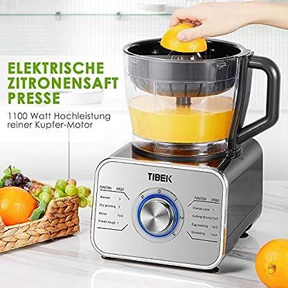 Tibek-Kchenmaschine-1100W-inkl-Knethaken-Standmixer-Zitrusspresse-und-Mhle-SilberSchwarz