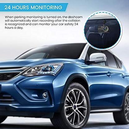 EIVOTOR-Dash-Camera-1080P-Auto-Kamera-DVR-4-Zoll-LCD-Bildschirm-Full-HD-140Dual-DashCam-Vorne-Hinten-Weitwinkel-Car-Recorder-mit-G-sensor-Nachtsicht-Bewegungserkennung-WDR-Parkmonitor-Loop-Aufnahme