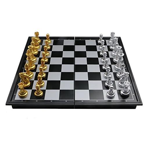 Schachspiel-Magnetisch-Einklappbar-Schachbrett-Pdagogische-Speil-fr-ab-6-Kinder-25x25cm