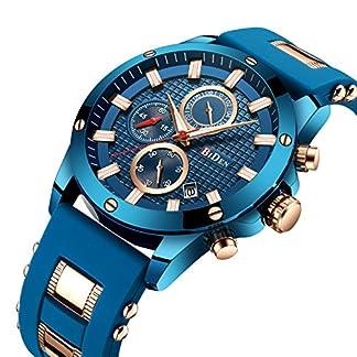 Armband-fr-Herren-mit-Chronograph-Uhren-Fashion-Business-Blau-Sport-Wasserdicht-Quarz-Armbanduhr-fr-die-Familie