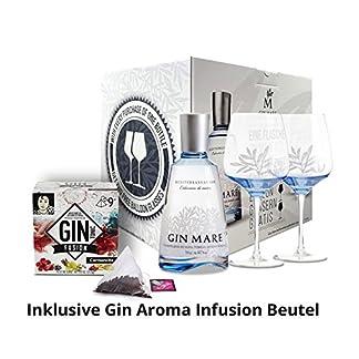 Gin-Mare-Geschenkbox-Gin-Mare-Mediterranean-Gin-mit-2-Ballon-Glsern-Camencita-Gin-Aroma-Infusion-Beutel-Stilvolles-Geschenkset-427-Vol-1-x-07-l