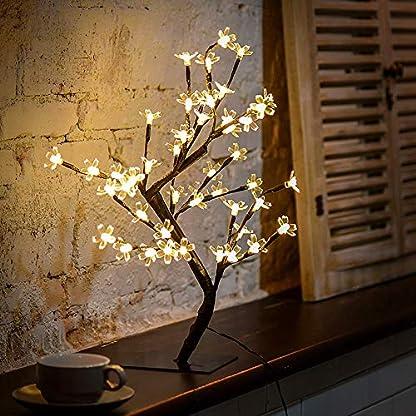 LED-Bumchen-Kirschbltenbaum-45cm-Hoch-Kirschblte-Lichterbaum-Baum-mit-48-LED-warm-wei-Weihnachten-Ostern-Blten-Bltenbaum-Lichterbaum-fr-Innen-Von-Fairyland