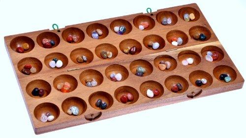Hus-Bao-Kalaha-Bohnenspiel-Muschelspiel-Edelsteinspiel-aus-Samena-Holz-2-Wahl