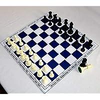 HenRal-New-Schachbrett-schachspiel-Schach-Set-Schach-Chess-Set-Unique-Design-Eco-Board-Pieces-Champions-50mm-Field-Blue-EINZIGARTIGES-KLAPPBAR-SCHACHBRETTSPIEL-Set-N5-BLAU
