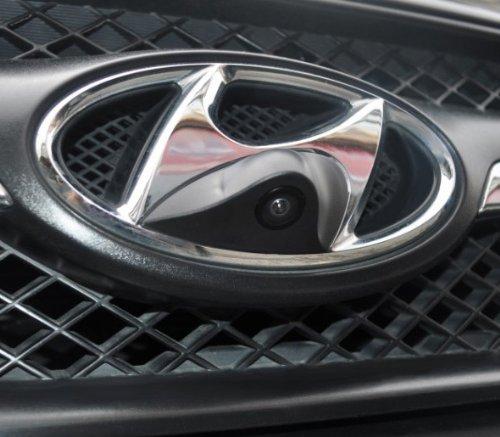 XCarlink-Front-Kamera-NTSC-fr-Hyundai-perfekt-unauffllig-ins-Front-Emblem-integriert