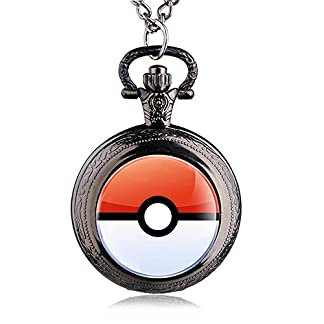 HWCOO-Taschenuhren-Mode-Retro-Pokemon-Wallet-Watch-Quarz-Taschenuhr-Uhren