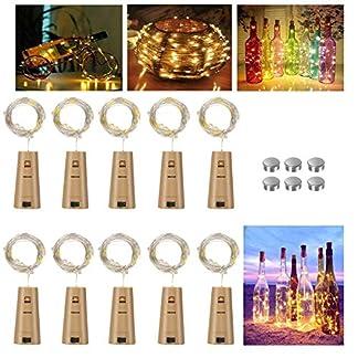 Vicloon-Flaschen-Licht-20-LEDs-2M-Warmwei-LED-Lichterketten-mit-Schraubendreher-und-8-Austauschbar-Knopfbatterie-Wein-Lichter-fr-Flasche-DIY-Party-Hochzeit-Stimmung-Lichter