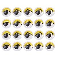 STOBOK-100Pcs-Wackelaugen-Kulleraugen-Klebeaugen-Selbstklebende-Googly-Augen-DIY-Scrapbooking-Kunsthandwerk-Augen-8mm-Gelb