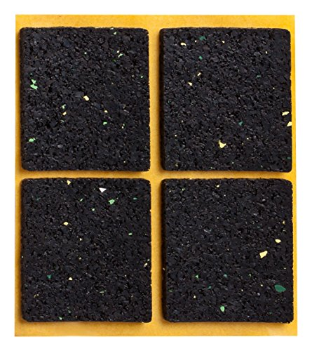 haggiy® Anti-Rutsch-Pad (Rutschhemmer für Möbel, Sofas, Tische), selbstklebend, quadratisch 48×48 mm (4 Stück)