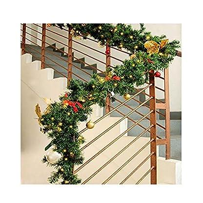 Weihnachtsgirlande-Tannengirlande-aus-Kunststoff-Weihnachts-Girlande-27m-Weihnachtsdeko-Girlande-DIY-Weihnachten-Adventsdeko-fr-Innen-und-Auen-Hochzeit-Shopping-Center-Thanksgiving-Party