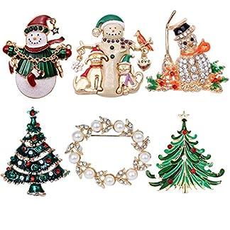 Elegant-Rose-6-bunten-Weihnachten-Brosche-Xmas-Geschenk-fr-Weihnachtsschmuck-Ornaments-Geschenke
