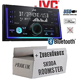 Autoradio-Radio-JVC-KW-X830BT-Bluetooth-MP3-USB-Einbauzubehr-Einbauset-fr-Skoda-Roomster-Praktik-JUST-SOUND-best-choice-for-caraudio