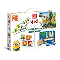 Clementoni-134748-Edu-Kit-4-in-1-Minions-Memo-Domino-Puzzle